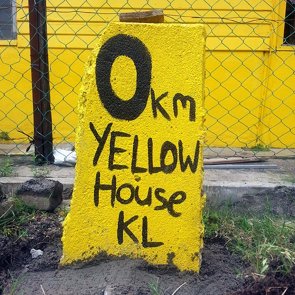 Yellow House Mile Marker